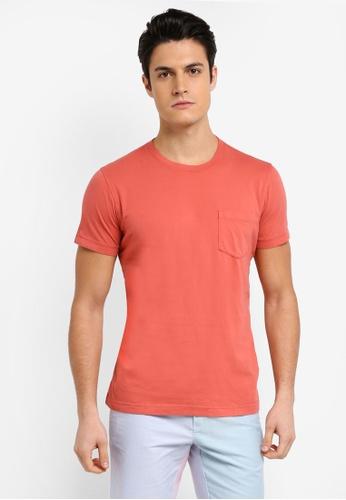 Brooks Brothers 粉紅色 素色休閒T恤 9114BAA5D4B225GS_1