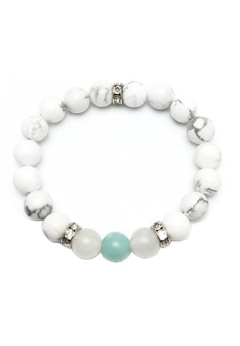 Memento Collection White Las Howlite Bracelet With Ite Me060ac63ubwmy 1
