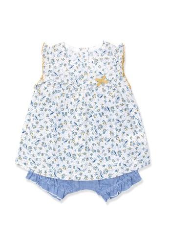 Organic mom blue Organic Cotton Daisy Floral Outfit 8FE79KA7D3D609GS_1