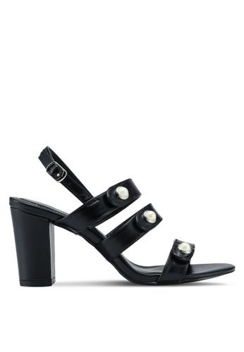 VINCCI black Strappy Heels 5DC91SHD323BD3GS_1
