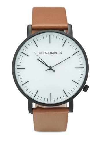 Thread Etiquette multi Classic-Matte Black/Light Brown Timepiece 822E6ACF9B7312GS_1