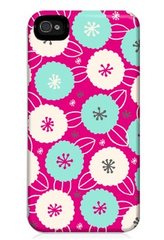 Cotton Flower All Glossy Hard Case for iPhone 4, 4s