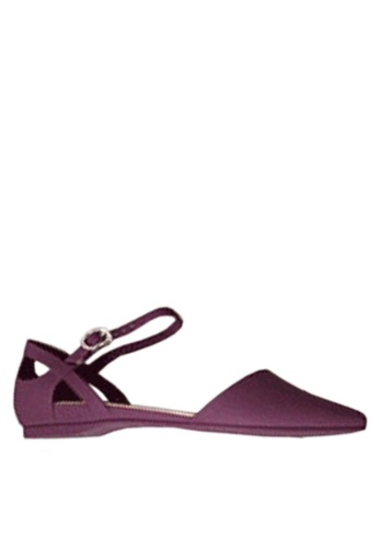 Twenty Eight Shoes purple Pointed Ankle Strap Jelly Flats VR5139 44CA0SH8BB5BFFGS_1