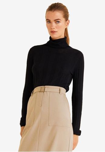 Mango brown Belt Long Skirt 5FC3FAA211664DGS_1