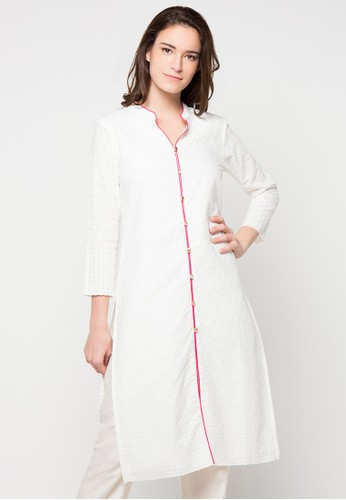 Chanira Festive Collection white Ruperta Embroidered Long Tunic CH354AA70BIFID_1