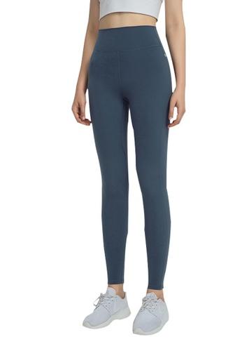 B-Code blue ZWG1109-Lady Quick Drying Running Fitness Yoga Leggings-Blue BBB86AADE00E73GS_1