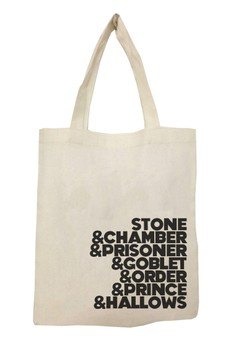 HP Book Titles Tote Bag