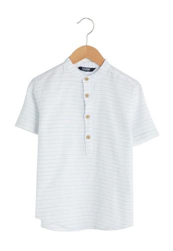 LC Waikiki blue Short Sleeve Boy's Shirt E6C1BKAB89D04EGS_1