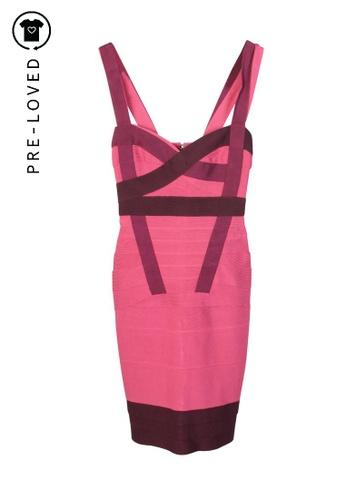 Hervé Léger pink Pre-Loved hervé léger Pink Shades Bandage Dress 91110AA102FF18GS_1