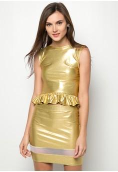 Sarah Shimmer Blouse & Skirt
