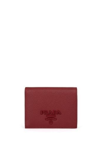 Prada red MONOCHROME Saffiano Leather Wallet 3FF63AC530F052GS_1