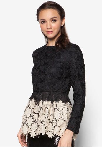 Crochet Lace Peplum Toesprit hk outletp, 服飾, 上衣