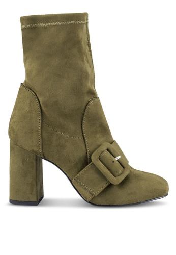 ZALORA 綠色 扣 踝靴 D7689ZZF68CFADGS_1
