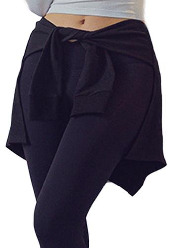 Sunnydaysweety black Yoga and Sports Hip-Hiding Cover A21031711BK BFA18AACFEB771GS_1