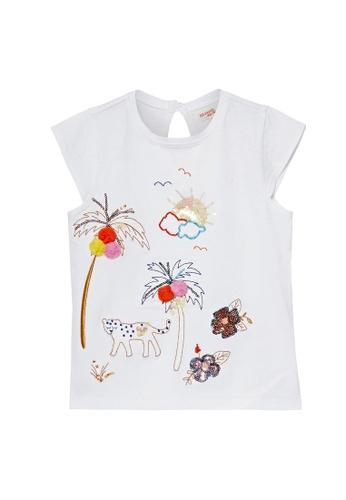Du Pareil Au Même (DPAM) white Graphic T-shirt 612EDKA456ACF1GS_1