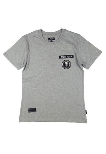 L.I.M.I.T.E grey Regular fit Emb. Patch T-Shirt LI425AA0FCK5SG_1