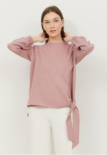 Alyssa pink Alyssa Front Tie Karen Blouse A5F50AA2329026GS_1