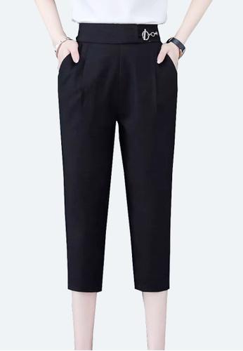 Twenty Eight Shoes black VANSA Cotton Linen High Waist Causal Pants  VCW-P2188 4458AAA172EE2AGS_1