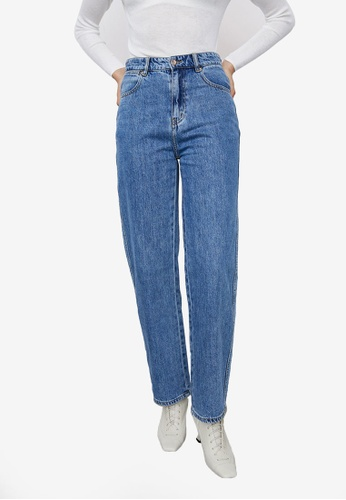 URBAN REVIVO blue Casual Loose Jeans AFB24AA51C4270GS_1