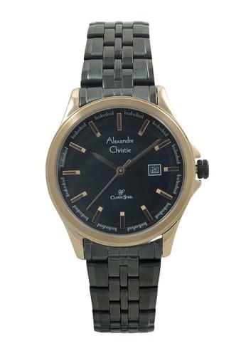 Alexandre Christie black Alexandre Christie Jam Tangan Wanita - Black Rosegold - Stainless Steel - 8402 LDBBRBA AL709AC68ISDID_1