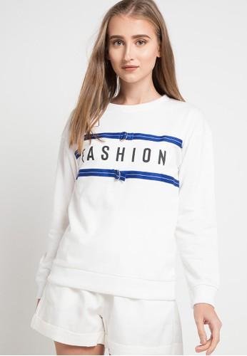 Gaff white and multi Sweater Striped E404BAAA0617BFGS_1