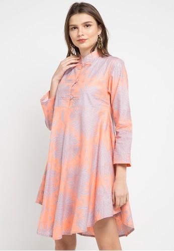Batik Suryamas orange and multi Dress Wulung C8D5AAAC950263GS_1