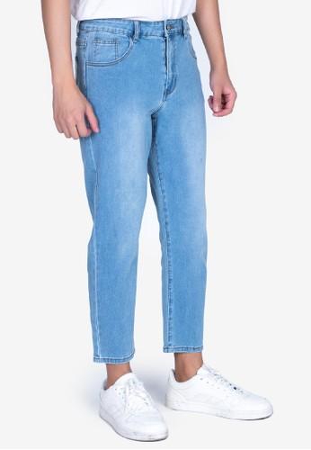 ZALORA BASICS blue Slim Fit Cropped Jeans 85E2BAA7F9B200GS_1
