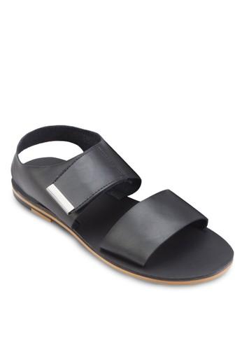 雙寬帶仿皮涼鞋esprit tw, 鞋, 鞋