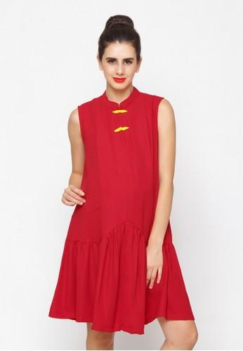 Chantilly red Maternity/Nursing Dress 53033 36E86AAAC17747GS_1