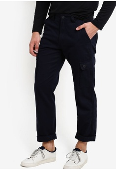 a68be8823e11 threads by the produce blue Cargo Pants TH122AA70NJLMY 1