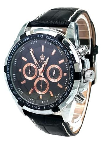 Shop Chronomart Orkina Chronograph Japan Movement Leather ...