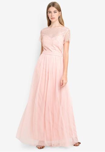 Little Mistress pink Salmon Maxi Dress 80315AA9B38118GS_1