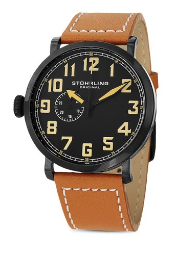 Monterey L 數字顯esprit 台中示牛皮手錶, 錶類, 皮革錶帶