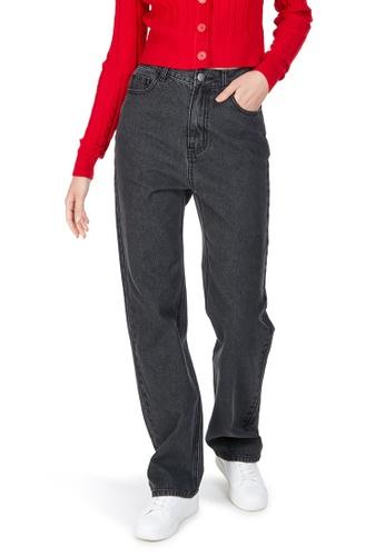 6IXTY8IGHT black GREAT, High Waist straight-leg Jeans PN08806 51959AA476843FGS_1