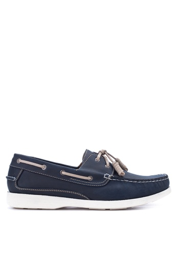 Gibi navy Men's Boat Shoes GI342SH24UWLPH_1