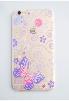Butterfly Soft Transparent Case for iPhone 6+