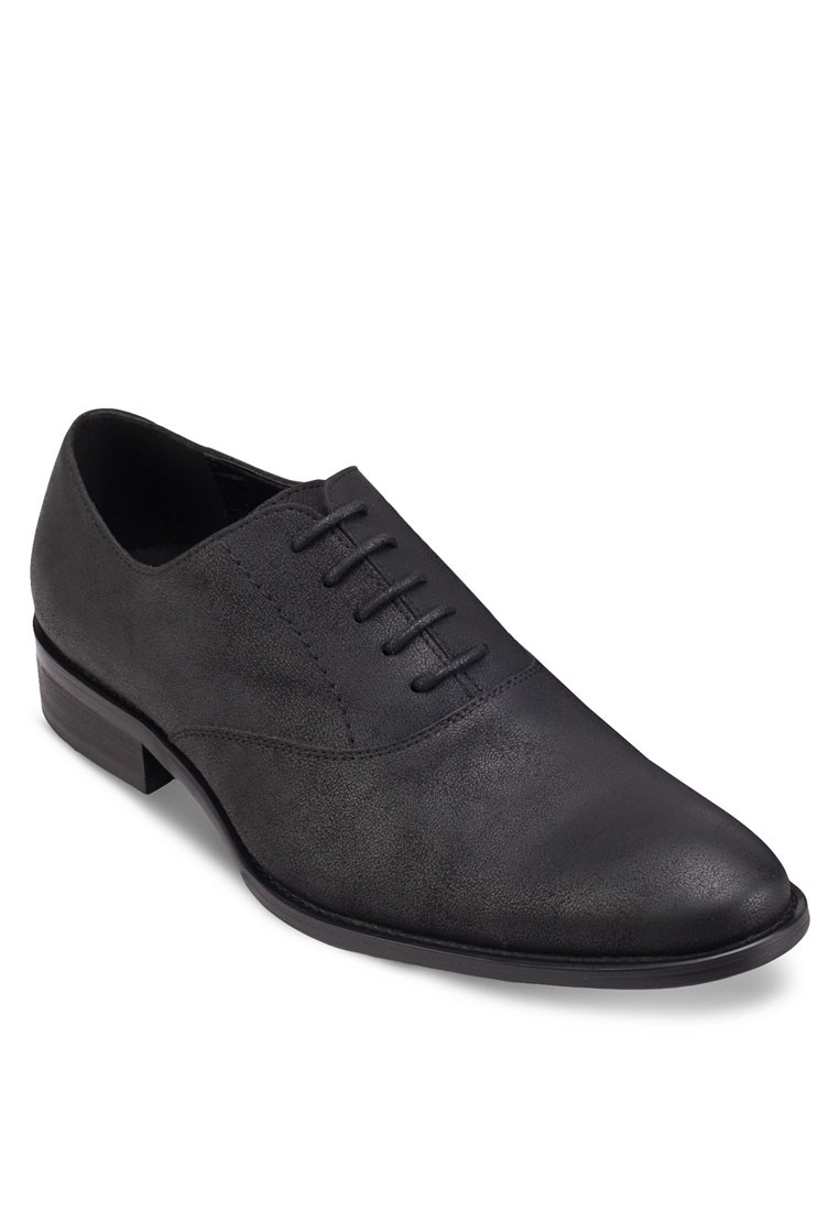 Faux Matte Leather Oxford Shoes