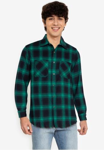 ZALORA BASICS multi Fray End Plaid Shirt 122D3AA1D74A9DGS_1