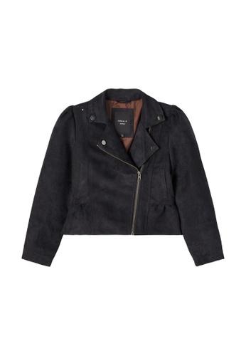 NAME IT black Mariel Faux Suede Jacket EDDE1KA24C0B20GS_1