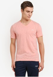 2GO orange V-Neck T-Shirt 2G729AA0S60WMY_1