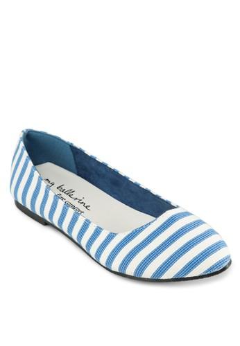 條紋平底鞋,尖沙咀 esprit 女鞋, 芭蕾平底鞋