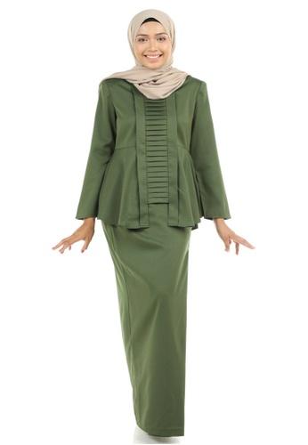 Ashura green Marzia Kebaya Peplum with Pleats 90949AAC871FEEGS_1