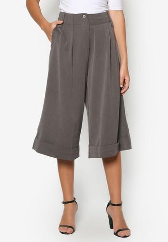 素色喇叭七分褲, 服飾, esprit retail知性女強人