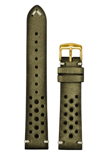 Undone green Undone Rally Green Calf Leather Strap 20mm (Gold Buckle) UN712AC2VEKSHK_1