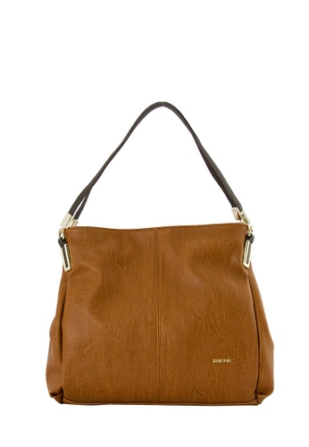 SEMBONIA brown SEMBONIA Synthetic Leather Tote Bag (Brown) 26B3FAC0A7AAE9GS_1