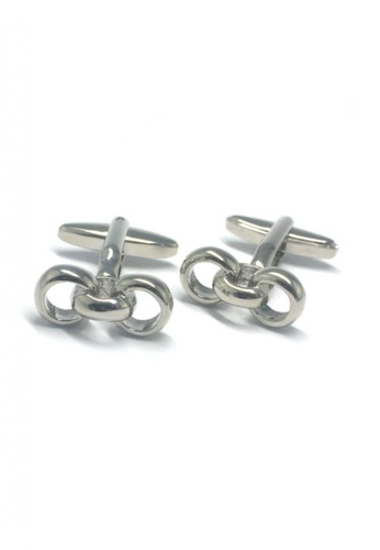 Splice Cufflinks silver Silver Three Rings Cufflinks   SP744AC60DTJSG_1