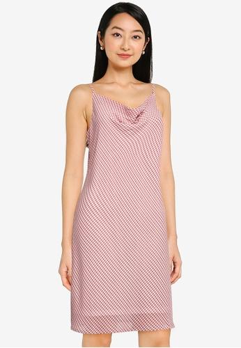 ZALORA BASICS multi Cowl Neck Mini Dress E102AAAE52C693GS_1