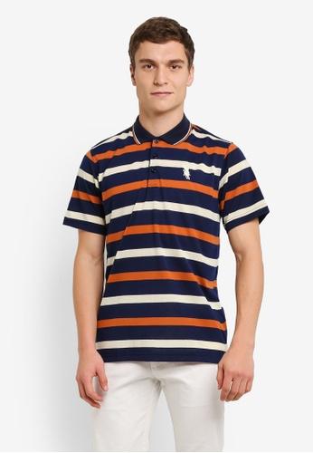 BGM POLO 黃色 Printed Polo Shirt BG646AA0S0K5MY_1