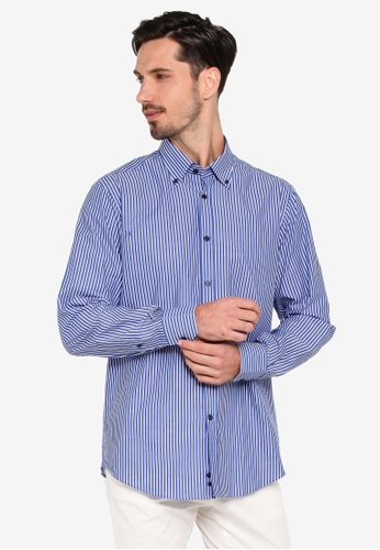 OVS 藍色 經典長袖襯衫 56D0FAACBF0CBCGS_1