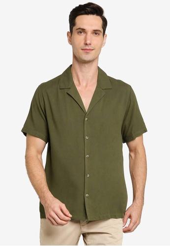 ZALORA BASICS green Relaxed Shirt EF5DCAA0E6A225GS_1